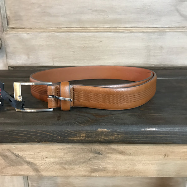 Leather Belt-Cognac