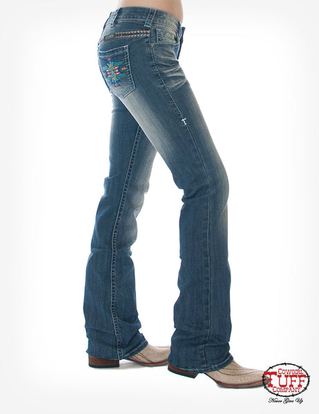 Women's Cowgirl Tuff Bold Aztec Jeans