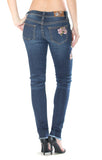 Women's Grace In LA Pink Floral Skinny