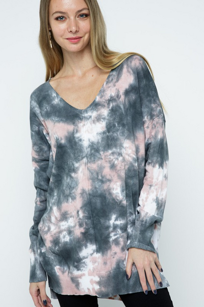 Women's Tie Dye long sweater