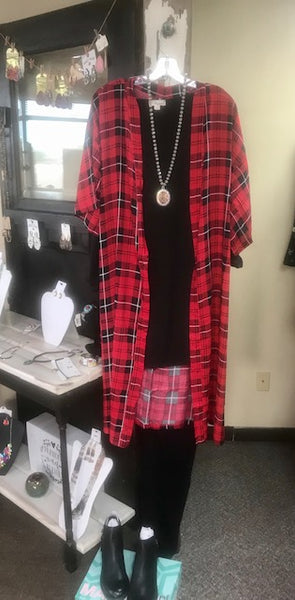 women's buffalo plaid duster