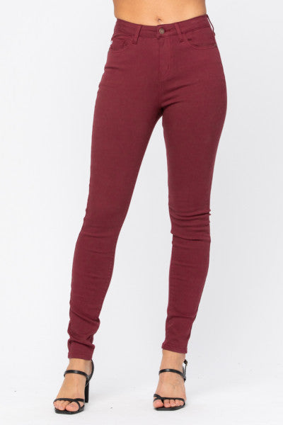 Women's high waisted colored skinny jeans