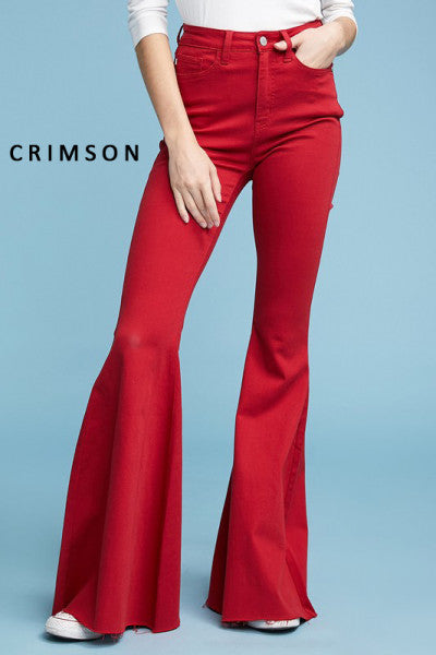 women's red flare jeans by Judy Blue