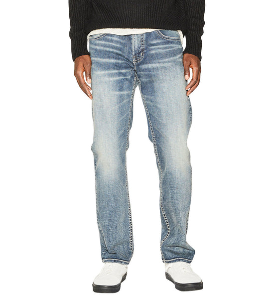 Mens light wash Eddie jeans by Silver Jeans Co.