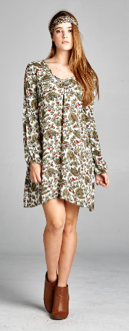 green floral tunic/dress