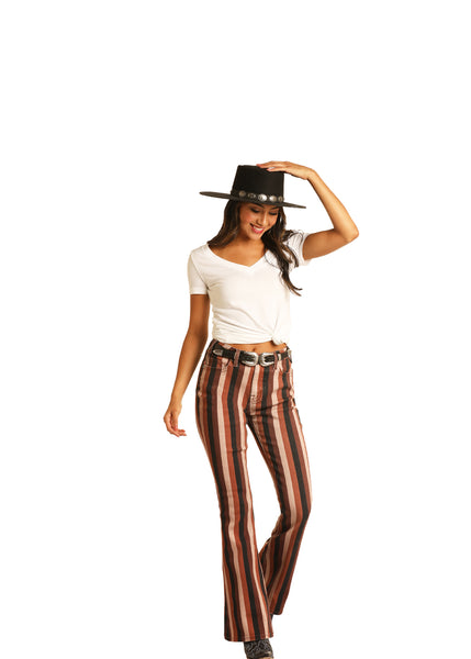 Women's stripe trouser jean by Rock & Roll Panhandle28x34