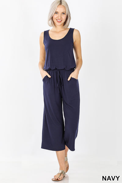 Women's 1 piece capri navy outfit