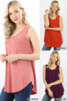 Womens Plus Relaxed Fit Tank-3 Colors