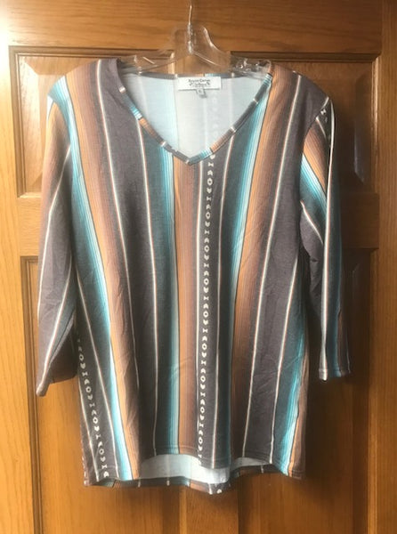 Serape sleeveless blouse