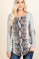 Women's Long sleeve snake skin shirt