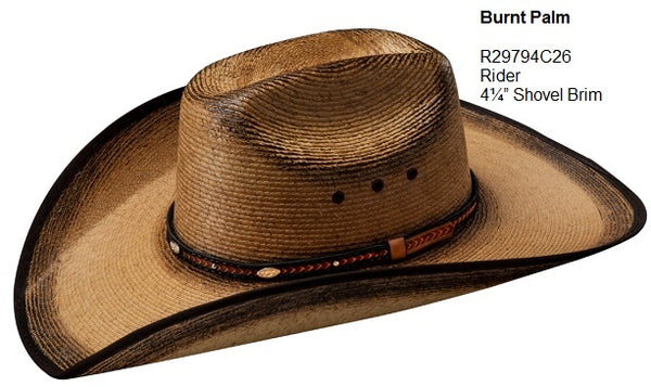 Burnt Palm Cowboy Hat