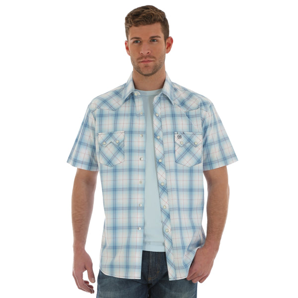 Wrangler short sleeve plaid shirt
