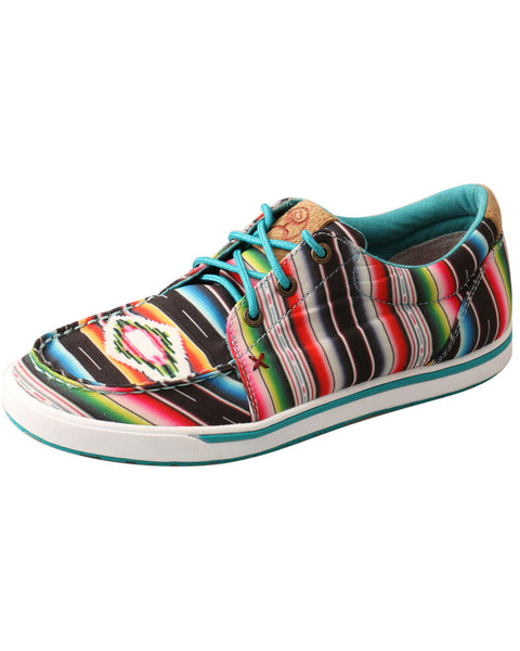 Women's Twisted X Hooey Lopers - Black/Serape