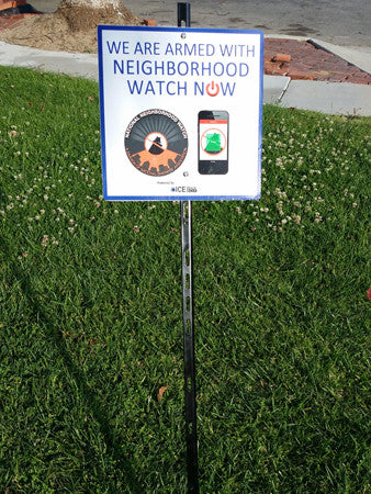 Neighborhood Watch NOW Lawn Sign Reflective