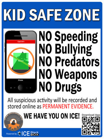 ***NEW*** Kid Safe Zone Street Sign - Reflective 12X18