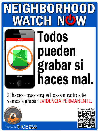 ***NEW*** Neighborhood Watch NOW Street Sign - Spanish - Reflective 18X24