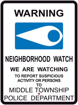 Legacy Blue Eye Design Neighborhood Watch Sign - Reflective 18X24