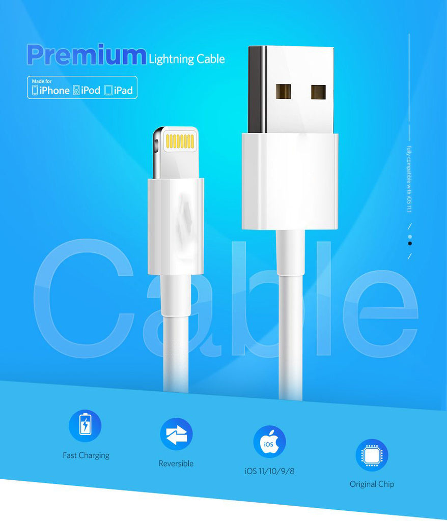 Original Cable For Iphone And Android Devices Originaliphonecable Kabel Data 2meter