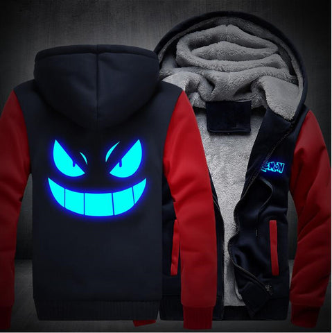 Glow in the Dark Gengar Fleece Zip Hoodie