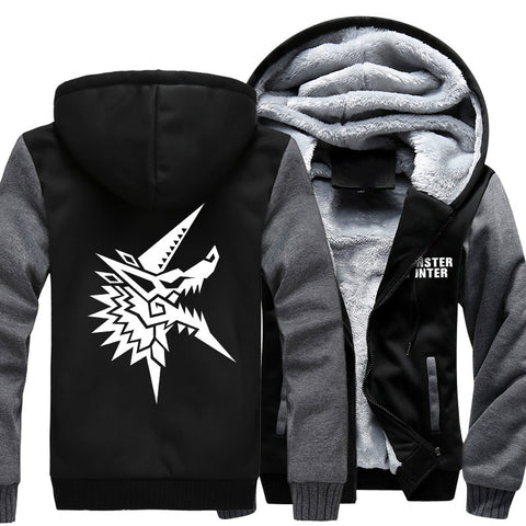 Monster Hunter Fleece Zip Hooded Jacket