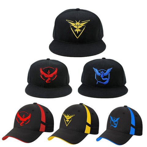 Pokemon Go Team Valor / Mystic / Instinct Snapback Baseball Cap