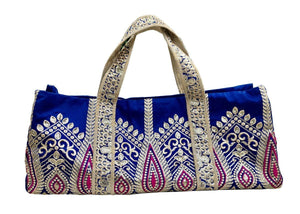 OmLuxe Collection Yoga Tote Set - Royal Blue & Fuchsia - Omluxe Collection