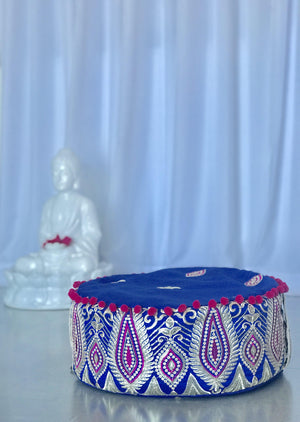 Meditation Cushion (Royal Blue & Fuchsia)