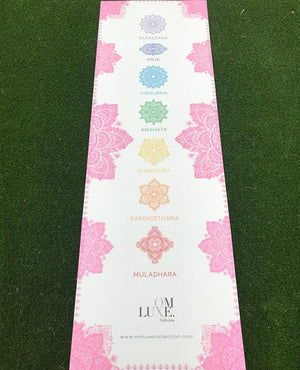OmLuxe Collection Yoga Mat - Pink - Omluxe Collection