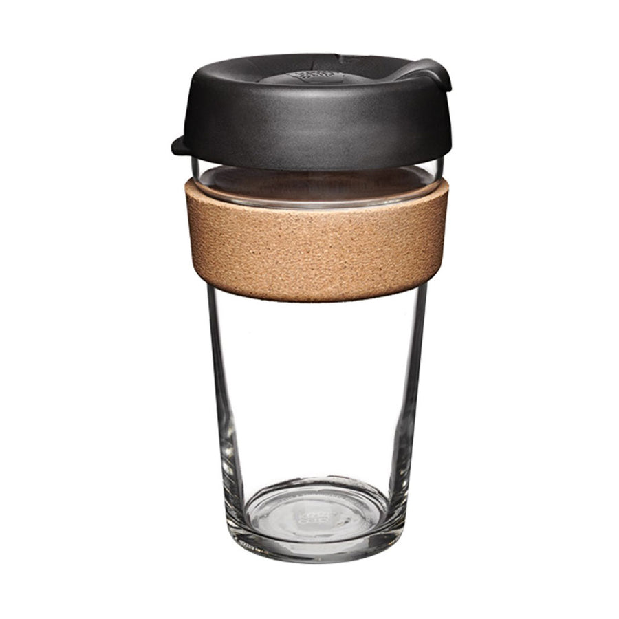 KeepCup Brew Cork Edition 16 oz Reusable Glass Cup
