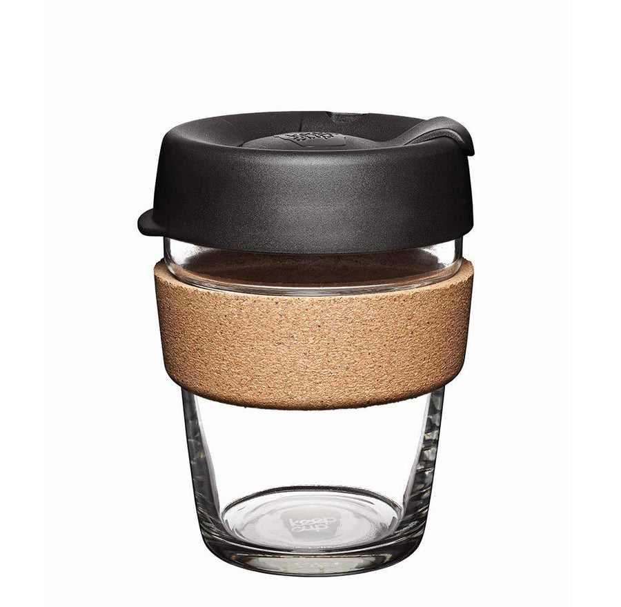 Brew Cork Edition 12 oz Glass Travel Cup
