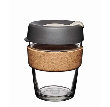 KeepCup Brew Cork Edition 12 oz Reusable Glass Cup