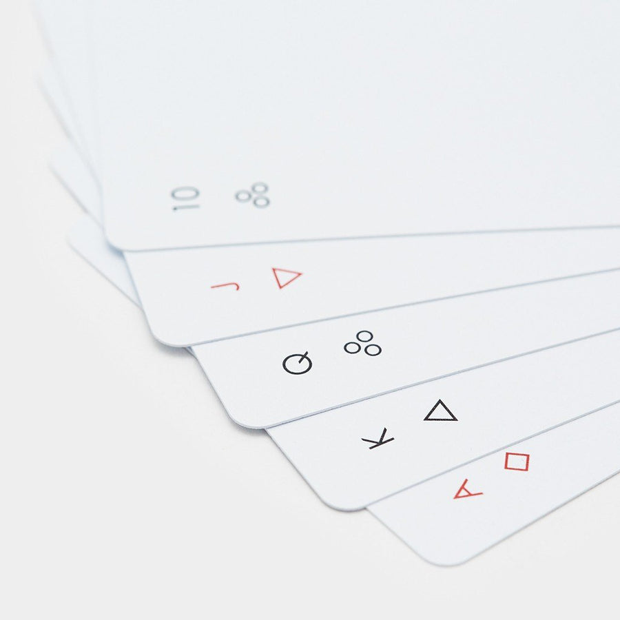White Minim Playing Cards