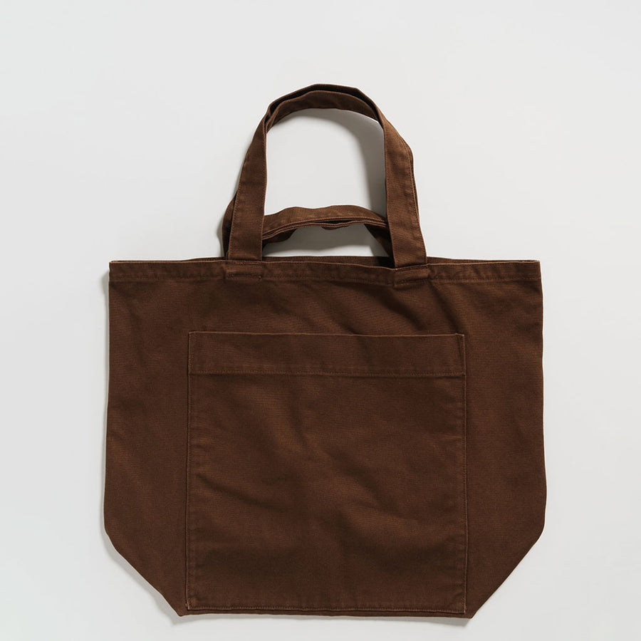Giant Pocket Tote in Washed Brown