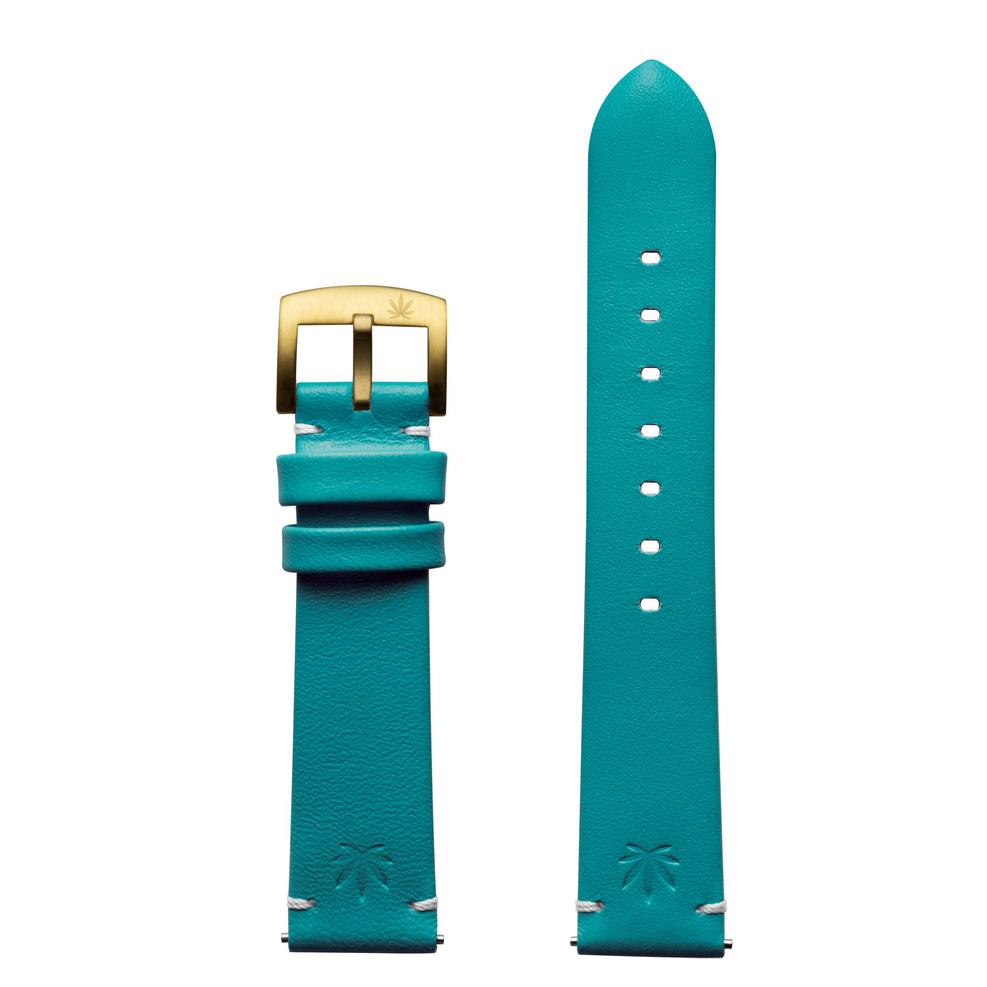 420Waldos Mary Jane Series Green-Blue Strap with IP Gold Plated Buckle