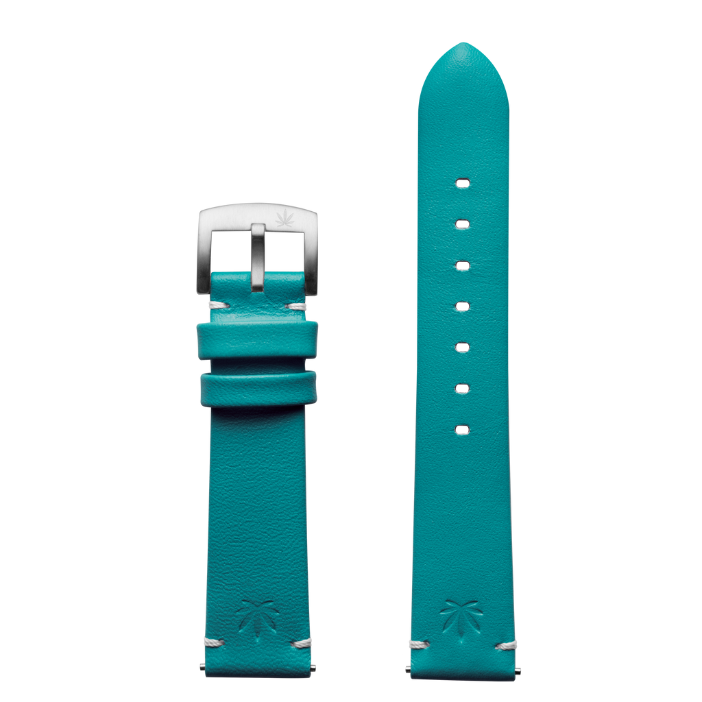 420Waldos Mary Jane Series Green-Blue Strap with SS Buckle