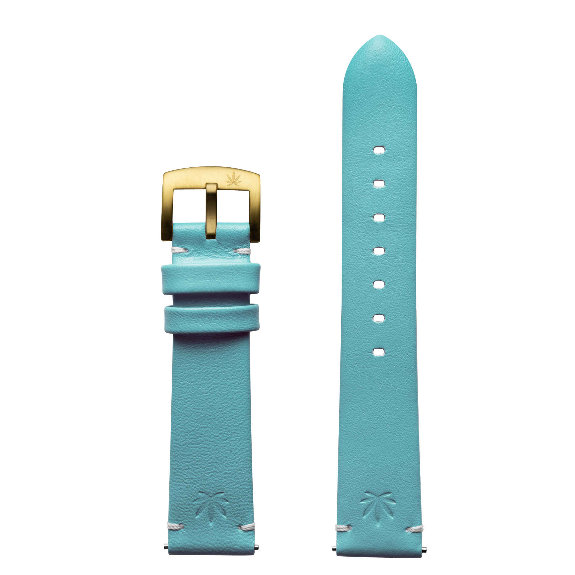 420Waldos Mary Jane Series Light Blue Strap with IP Gold Plated Buckle