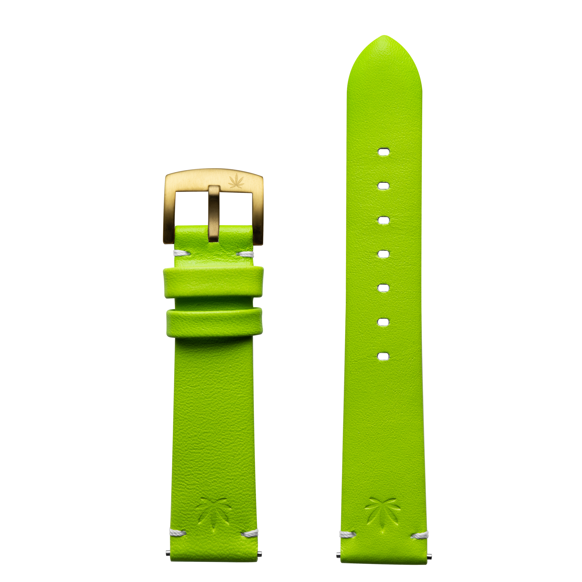 420Waldos Mary Jane Series Light Green Strap with IP Gold Plated Buckle