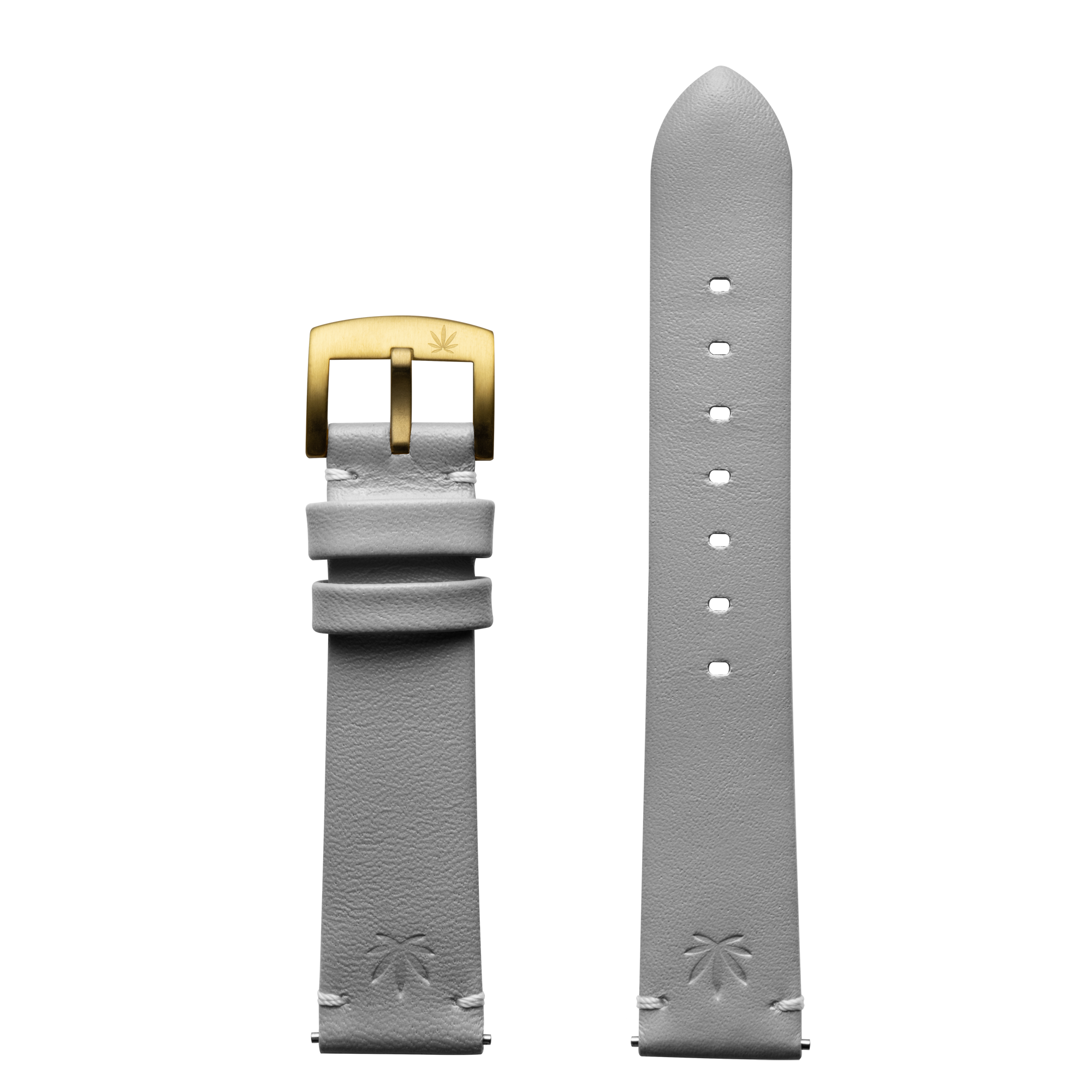 420Waldos Mary Jane Series Light Gray Strap with IP Gold Buckle