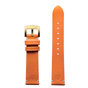 420Waldos Mary Jane Series Orange Strap with IP Gold Plated Buckle