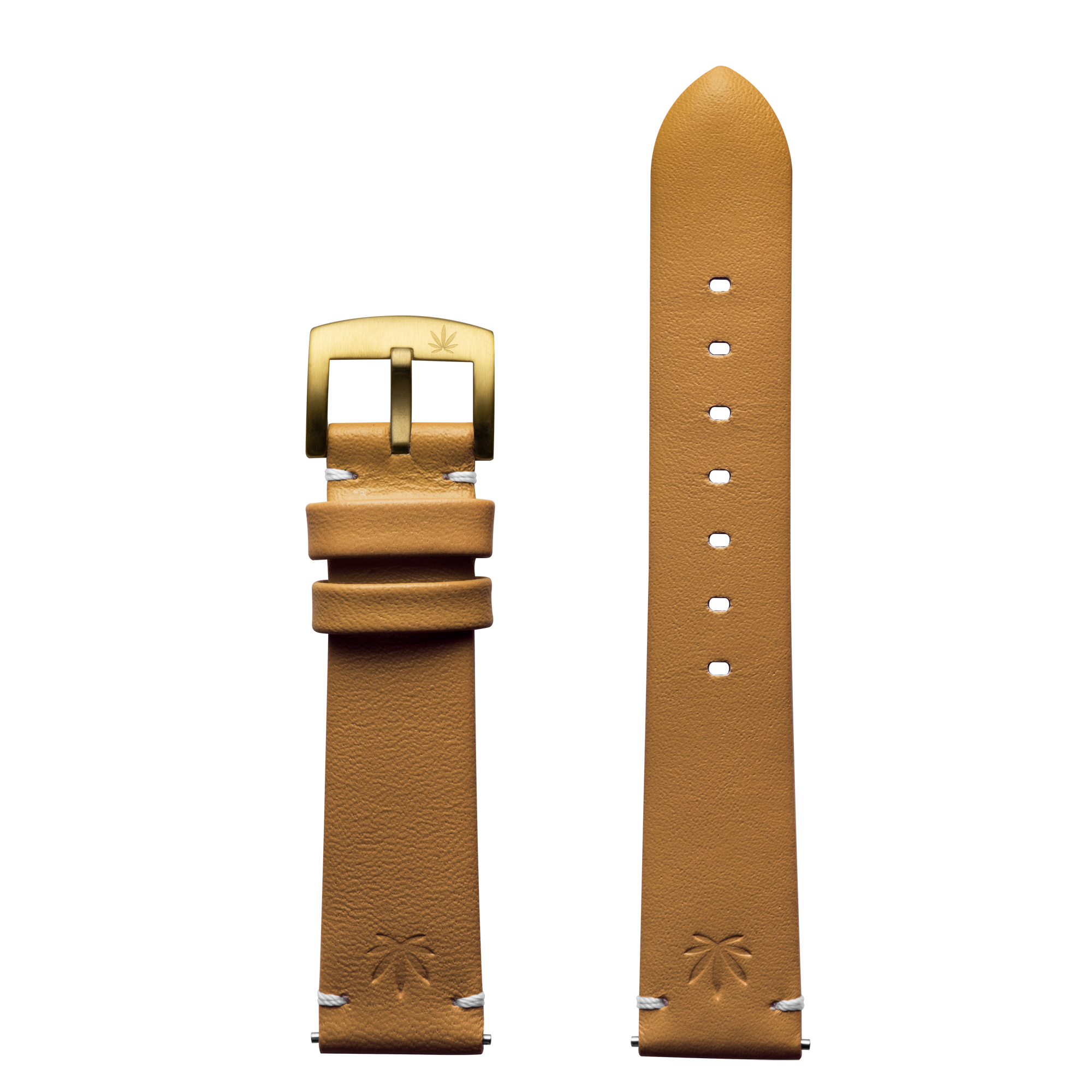 420Waldos Mary Jane Series Tan Strap with IP Gold Plated Buckle