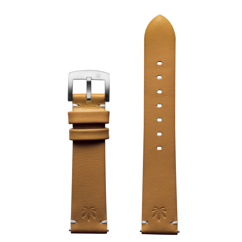 420Waldos Mary Jane Series Tan Strap with SS Buckle