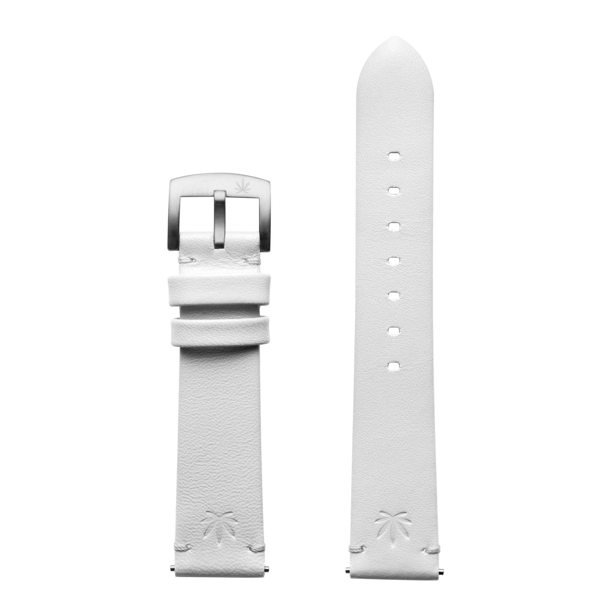 420Waldos Mary Jane Series White Strap with SS Buckle