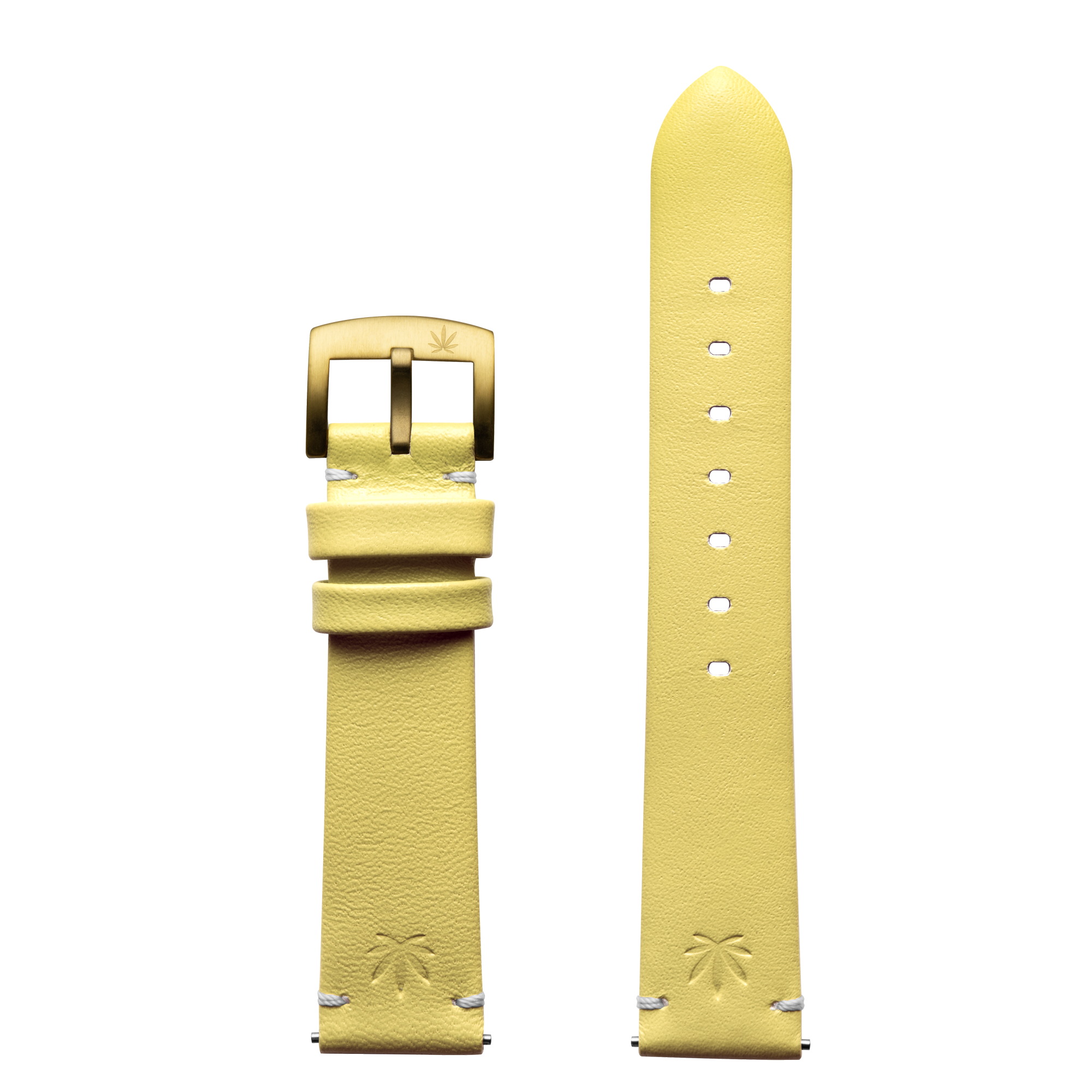 420Waldos Mary Jane Series Light Yellow Strap with IP Gold Plated Buckle