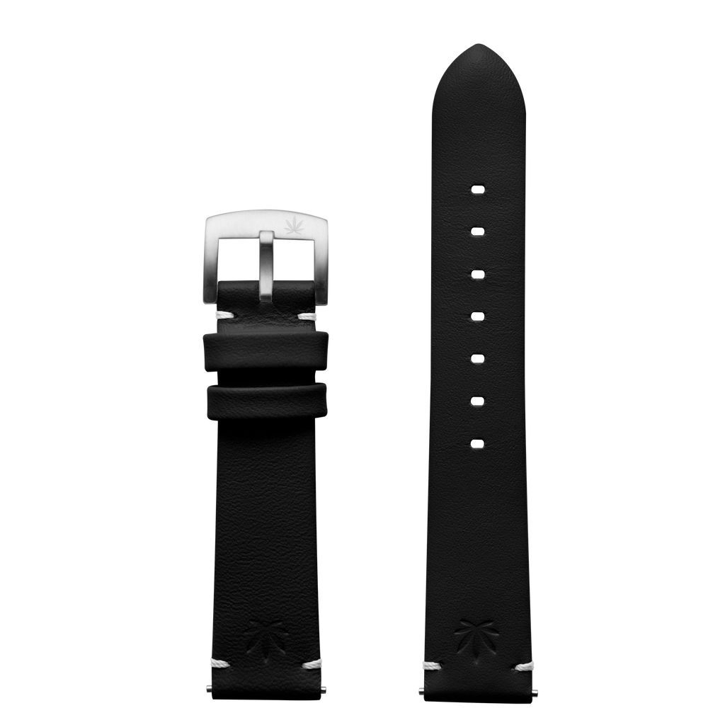 420Waldos Bud Series Black Strap with Brushed SS Buckle