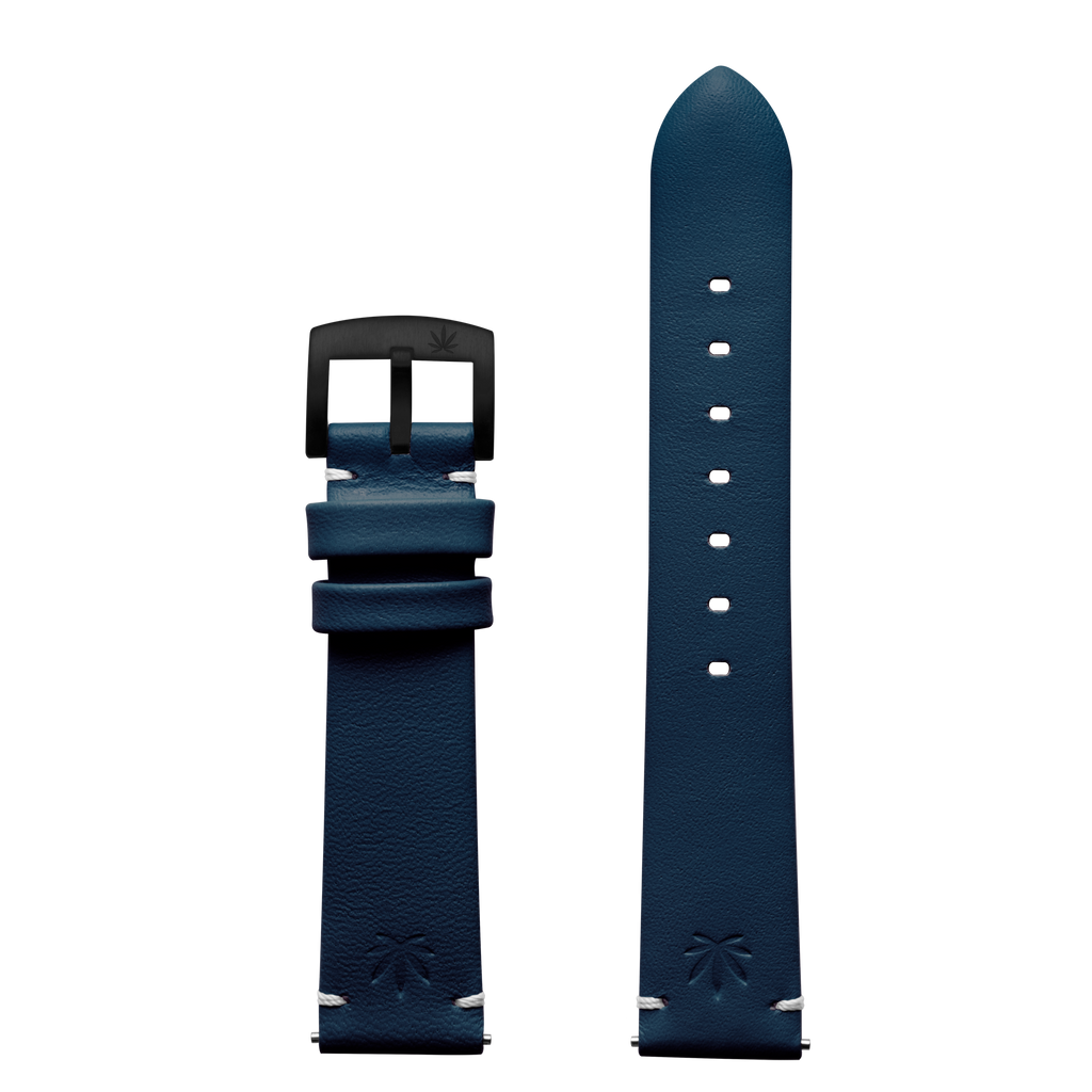420Waldos Bud Series Dark Blue Strap with IP Black Plated Buckle