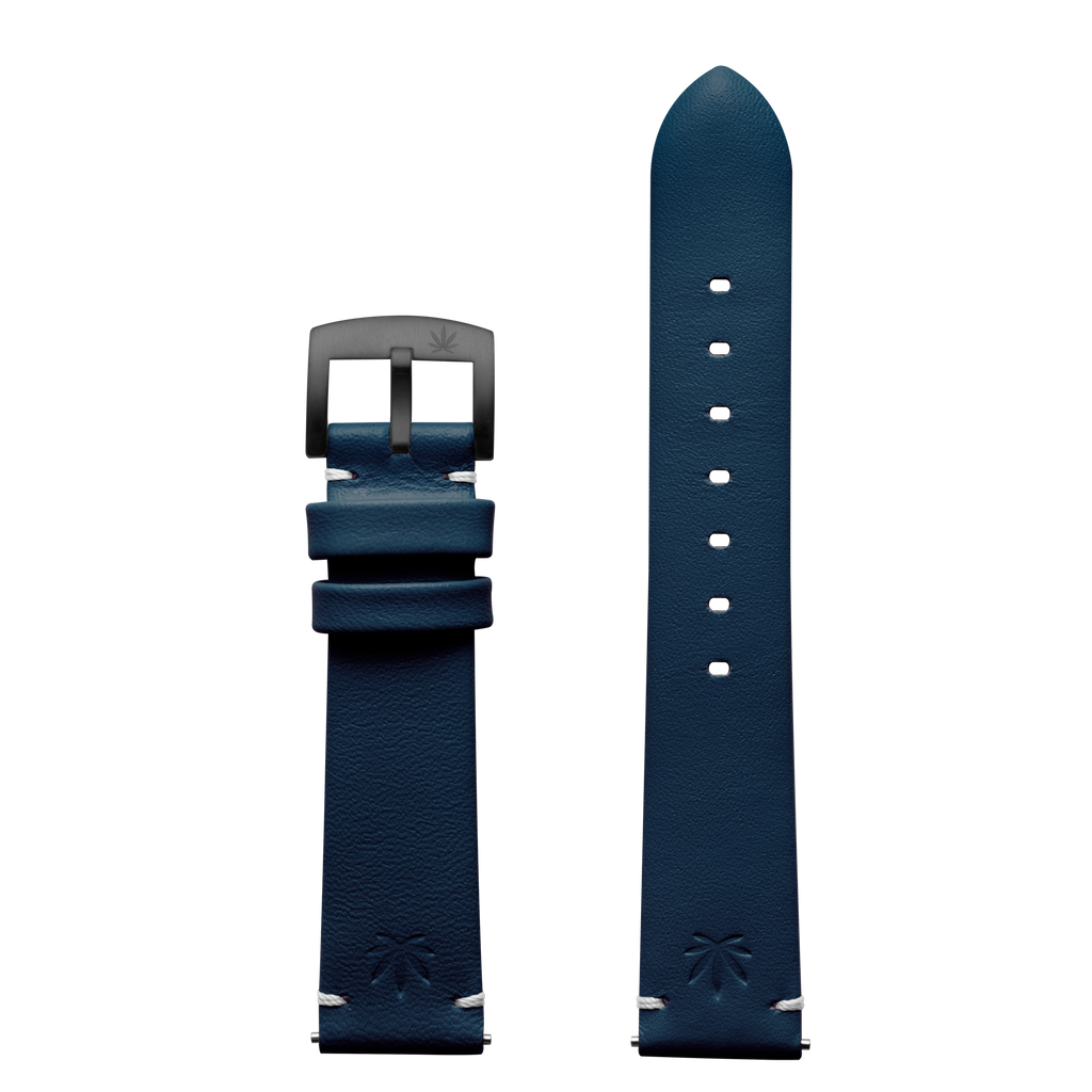 420Waldos Bud Series Dark Blue Strap with IP Gun Gray Plated Buckle