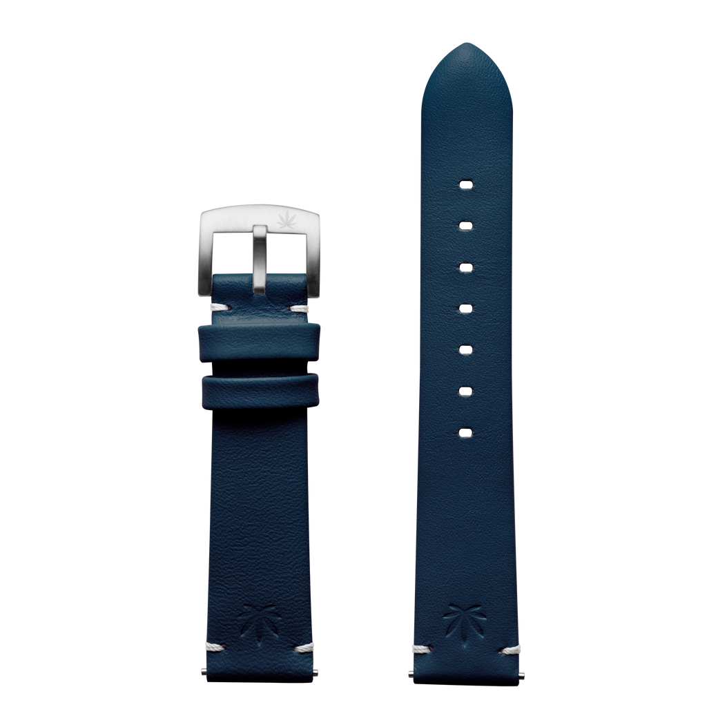420Waldos Bud Series Dark Blue Strap with Brushed SS Buckle