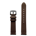 420Waldos Bud Series Dark Brown Strap with IP Gun Gray Plated Buckle