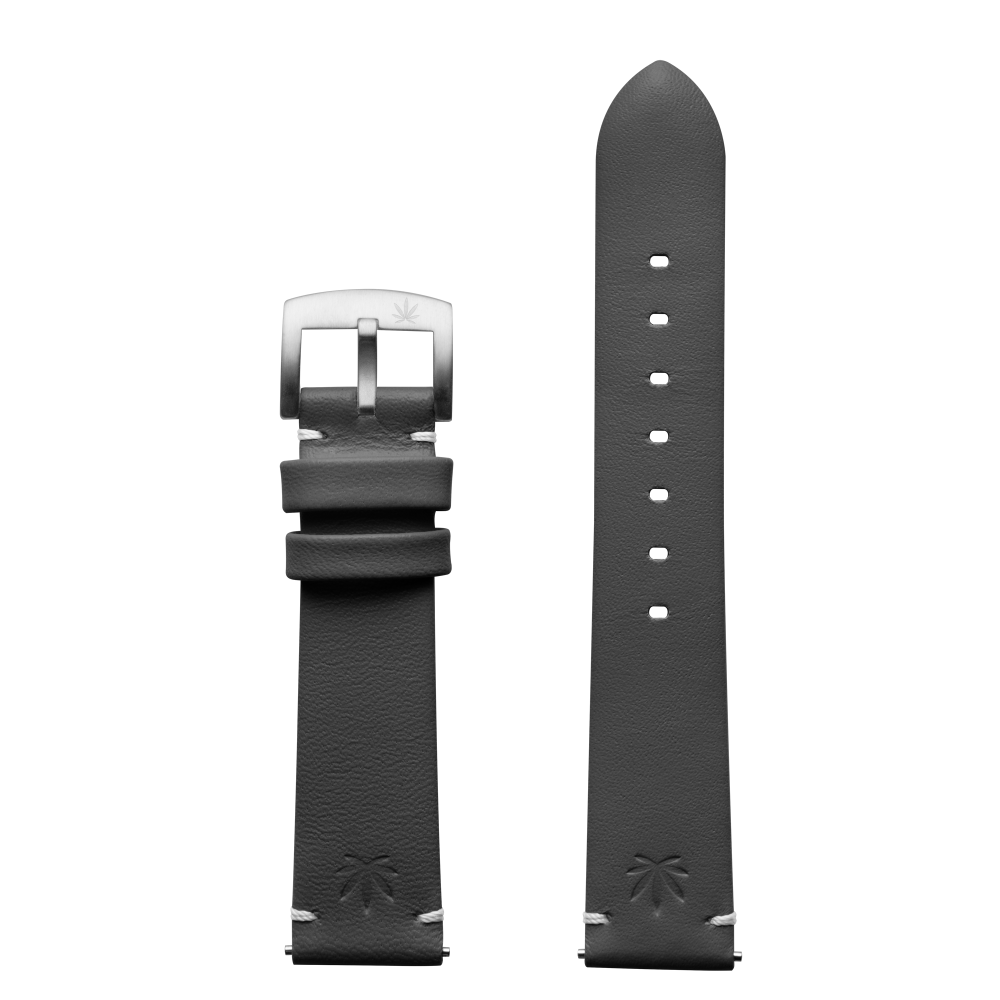 420Waldos Bud Series Dark Gray Strap with Brushed SS Buckle