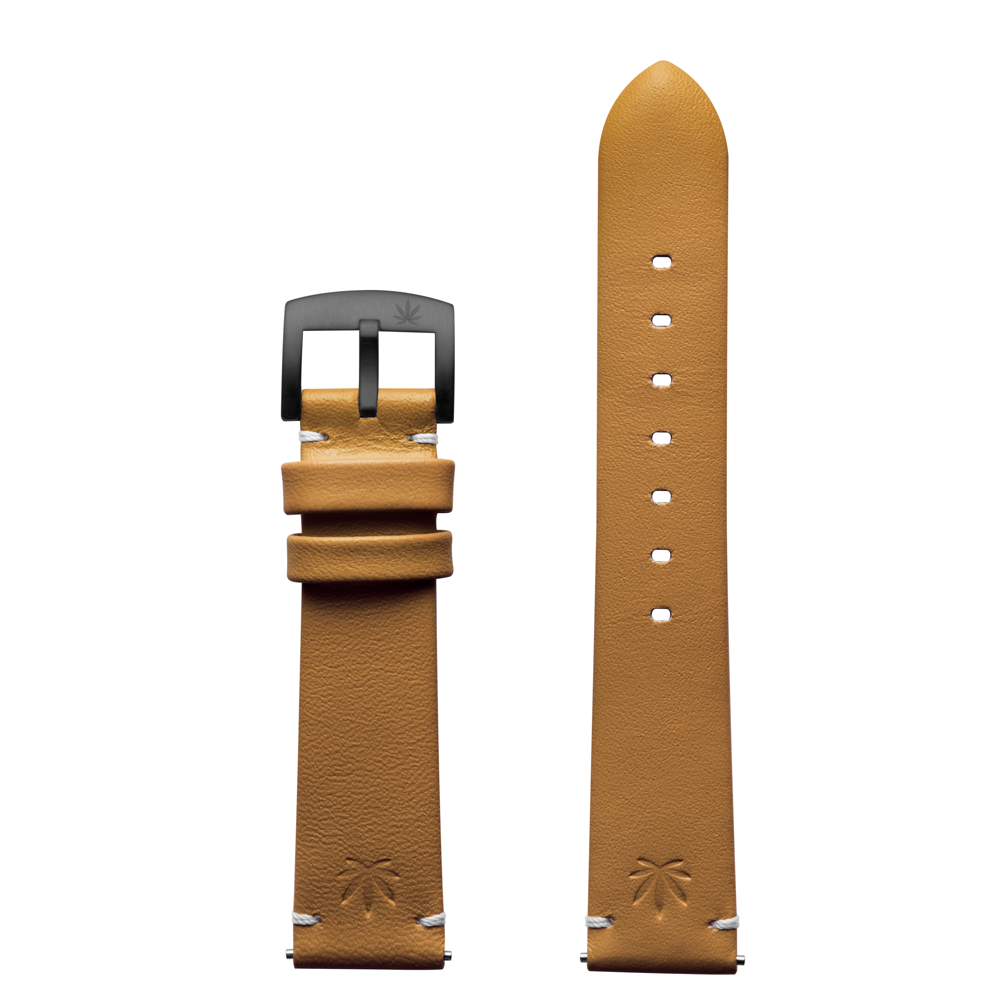420Waldos Bud Series Tan Strap with IP Plated Gun Gray Buckle